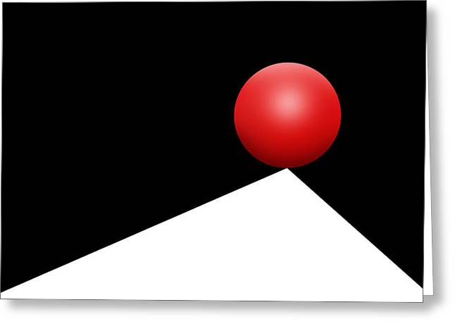Red Ball 29 Greeting Card by Mike McGlothlen