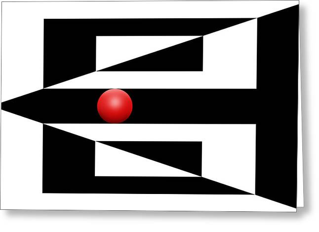 Red Ball 3 Greeting Card by Mike McGlothlen