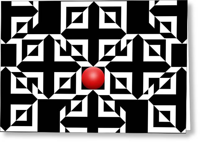 Red Ball 5 Greeting Card by Mike McGlothlen