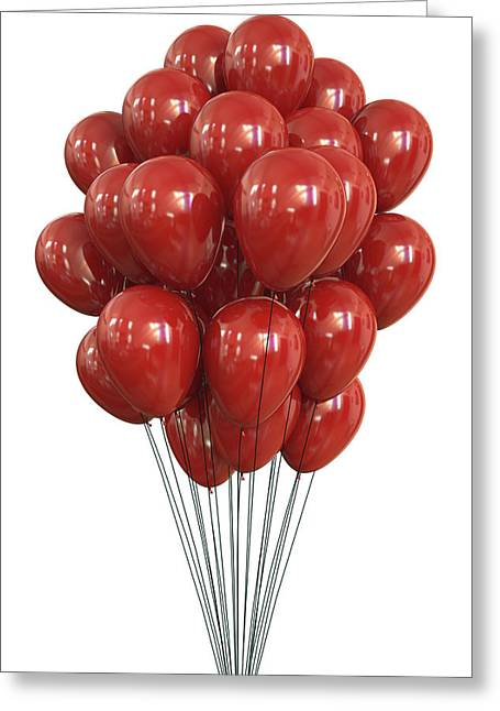 Red Balloons Greeting Card