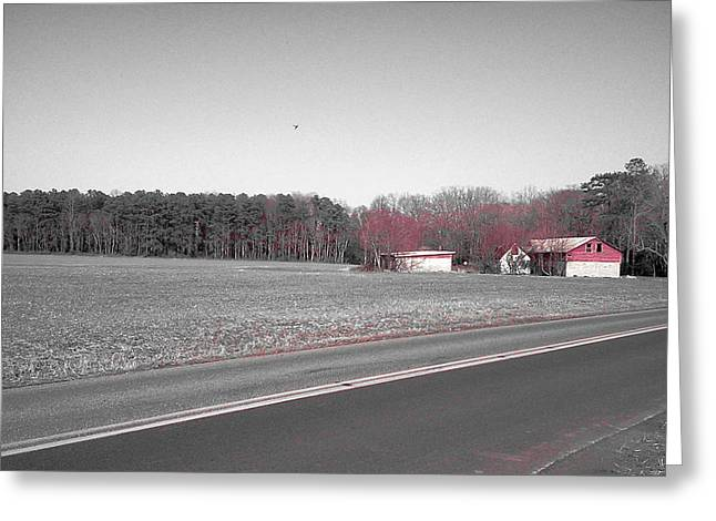 Red Barn  Greeting Card by Amazing Photographs AKA Christian Wilson