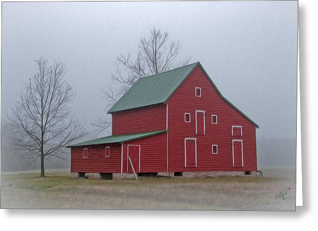 Red Barn At Ware Neck Greeting Card by Williams-Cairns Photography LLC