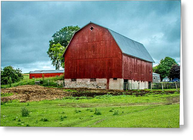 Red Barn Greeting Card by Bill Gallagher
