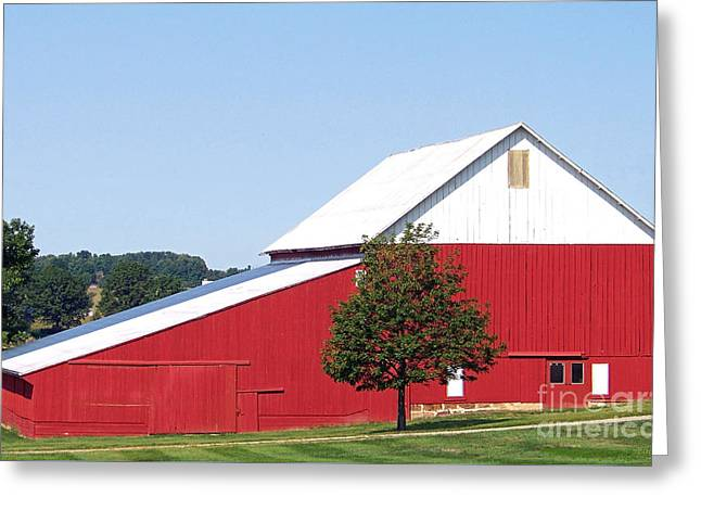 Greeting Card featuring the photograph Red Barn by Gena Weiser