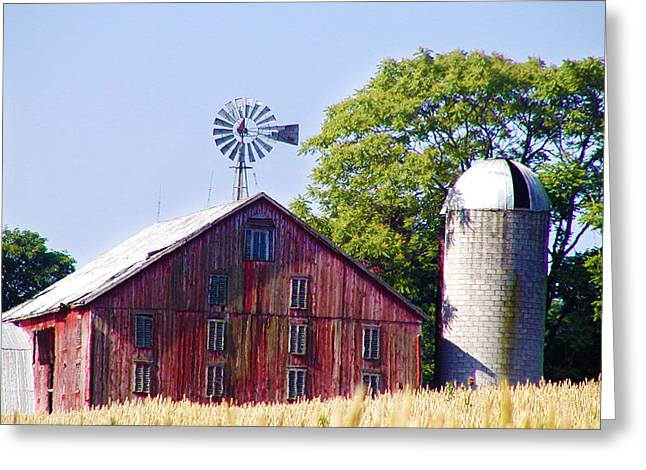 Red Barn In Gettysburg Greeting Card by Bill Cannon