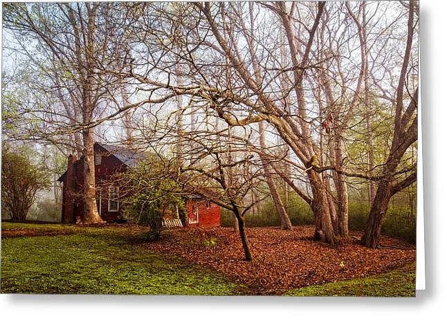 Red Barn In The Smokies Greeting Card