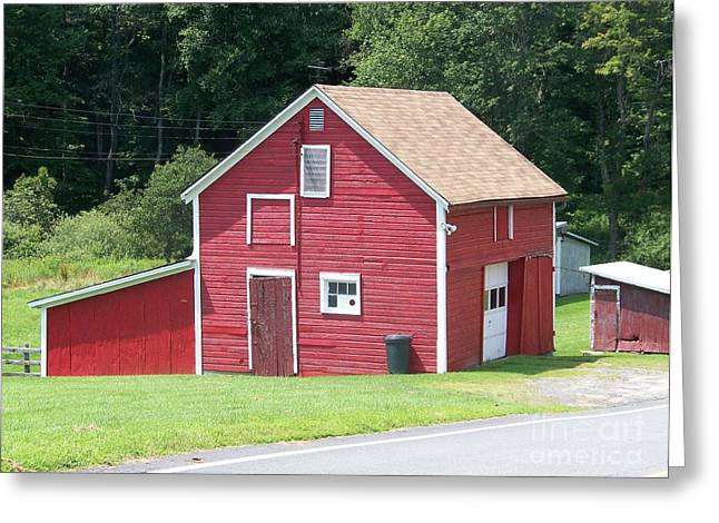 Red Barn Greeting Card by Kevin Croitz