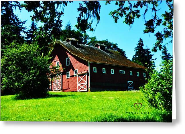 Greeting Card featuring the photograph Red Barn  by Mindy Bench