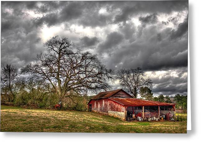 Red Barn On The Boswell Farm Greeting Card by Reid Callaway