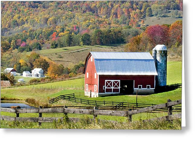 Greeting Card featuring the photograph Red Barn by Robert Camp