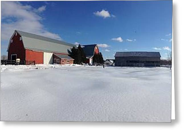 Red Barn Series Feat. Snow Greeting Card