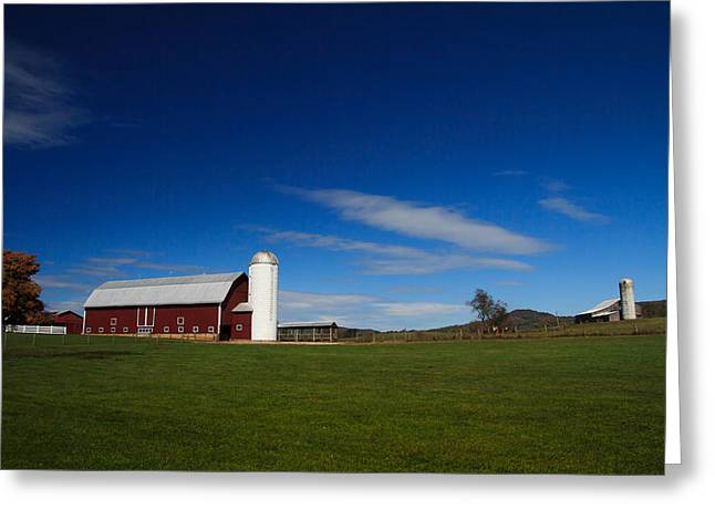 Red Barn Greeting Card by Shane Holsclaw