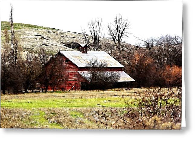 Red Barn Greeting Card by Steve McKinzie