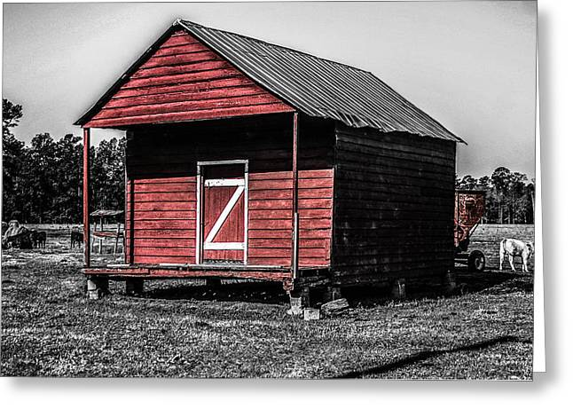 Red Barn  Greeting Card by Steven  Taylor