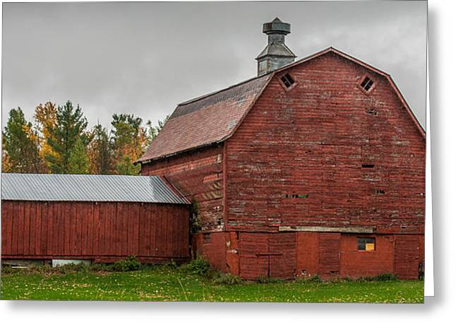 Red Barn With Fall Colors Greeting Card by Paul Freidlund