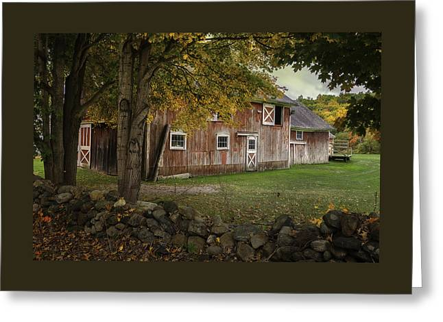Connecticut Red Barn Greeting Card