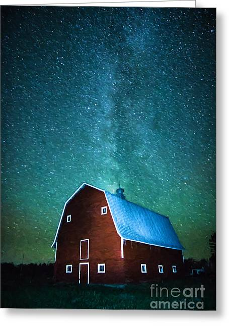 Red Beauty's Milky Way Greeting Card