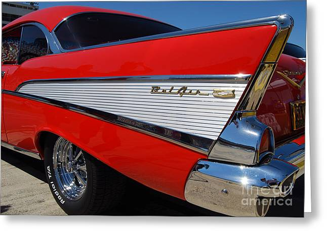 Red Belair Fins Greeting Card
