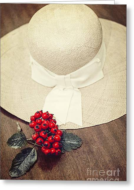 Red Berries And Hat Greeting Card