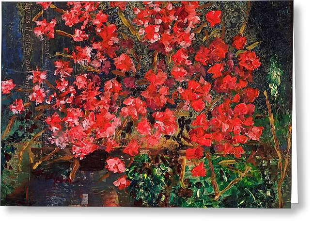 Red Blooms I Greeting Card