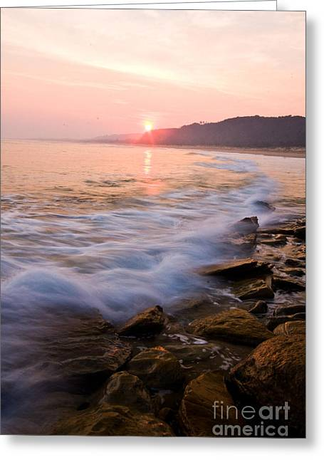 Red Bluff Lake Tyers Greeting Card by Alexander Whadcoat