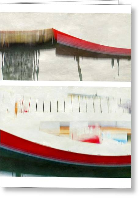 Red Boat At The Dock Greeting Card by Patricia Strand
