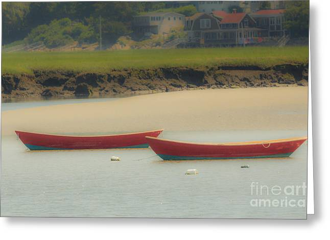 Red Boats Greeting Card