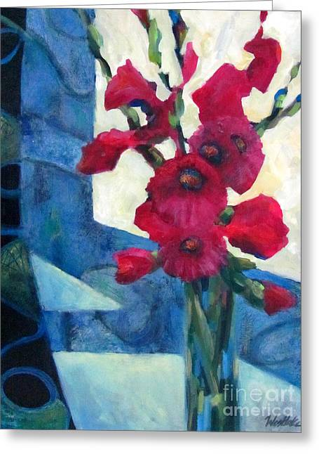 Red Bouquet 2 Greeting Card by Wendy Westlake