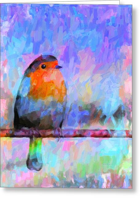 Red Breasted Robin Greeting Card by Kenny Francis