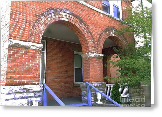 Greeting Card featuring the photograph Red Brick Archway by Becky Lupe