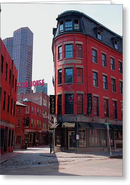 Red Brick Buildings In North End Greeting Card