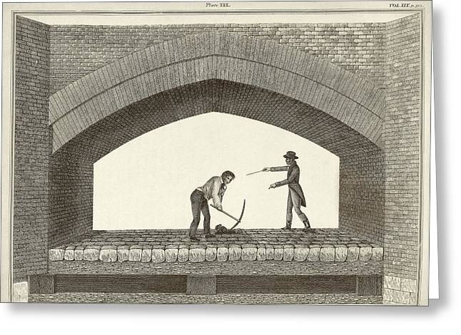 Red Bridge Excavations Greeting Card by Middle Temple Library