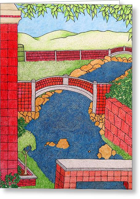Red Bridges Greeting Card