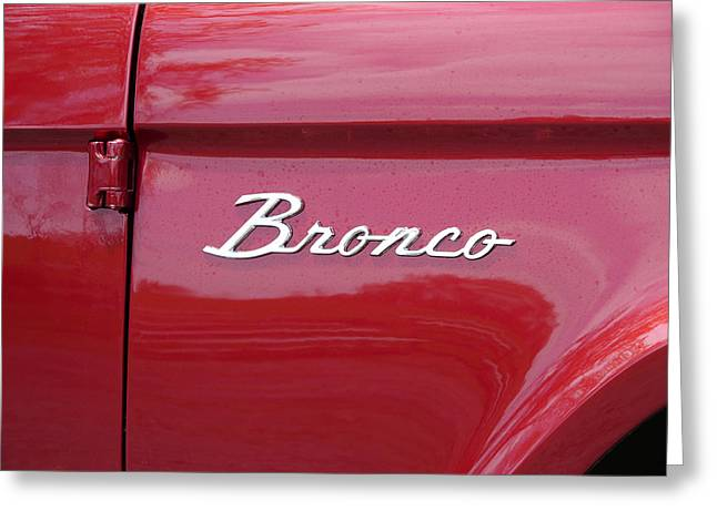 Red Bronco I Greeting Card by Richard Reeve