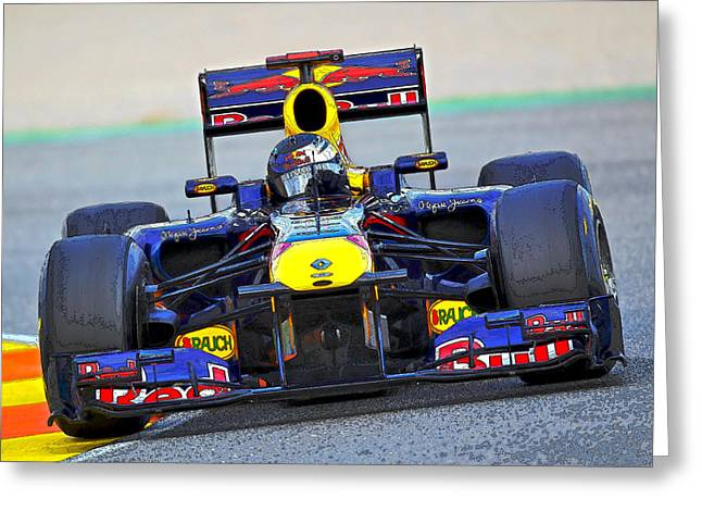 Red Bull Formula 1 Racing Greeting Card