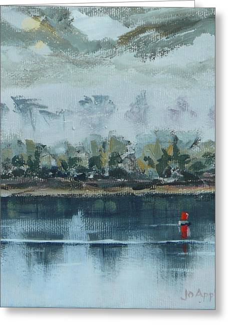 Red Buoy Greeting Card by Jo Appleby