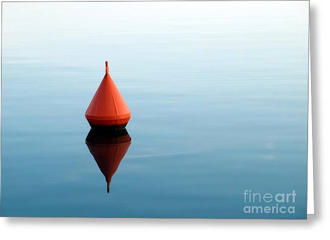 Red Buoy Greeting Card by Sinisa Botas