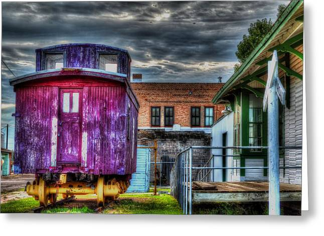 Red Caboose Greeting Card by Aliceann Carlton