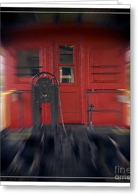 Red Caboose Greeting Card by Edward Fielding