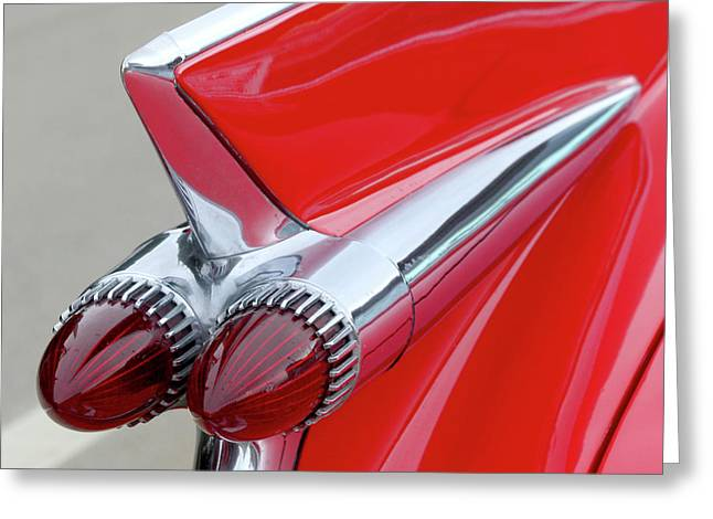 Red Caddy Greeting Card by Art Block Collections