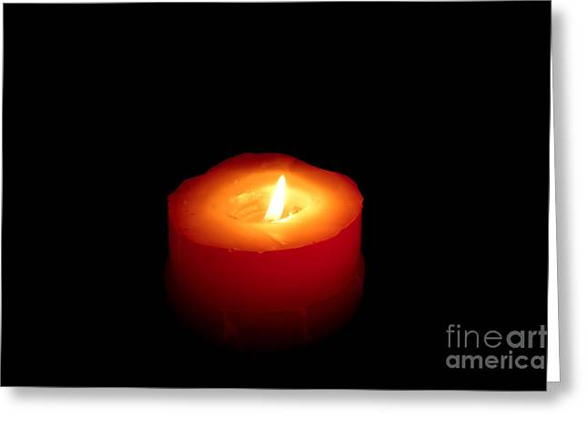 Red Candle Greeting Card by William Voon