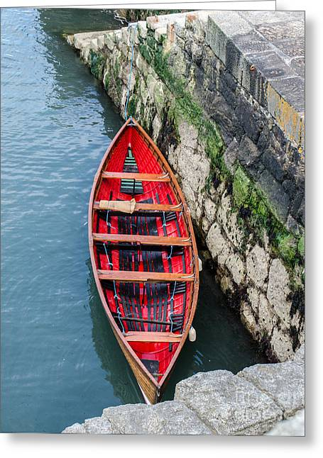Red Canoe Greeting Card