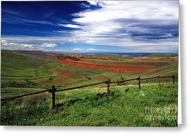 Red Canyon Wyoming Greeting Card