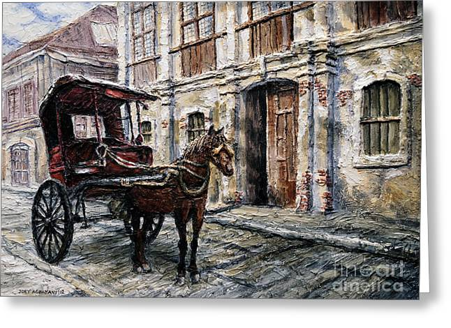 Red Carriage Greeting Card
