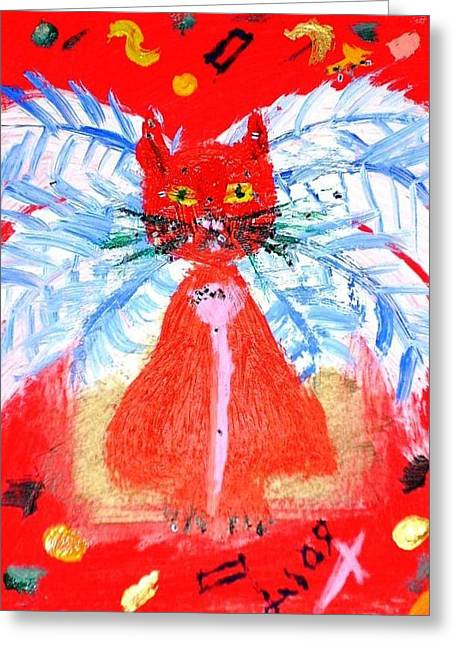 Red Cat I Greeting Card