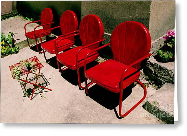 Red Chairs Greeting Card