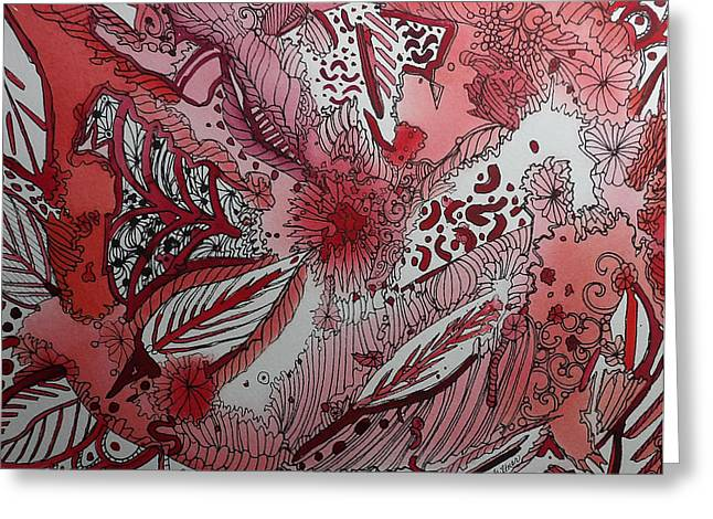 Red Chakra Greeting Card by Terry Holliday