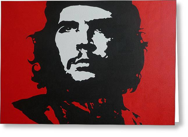 Red Che Greeting Card by ID Goodall