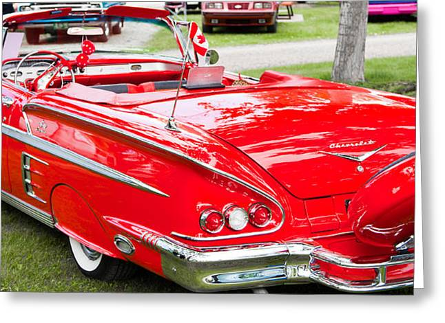Red Chevrolet Classic Greeting Card by Mick Flynn
