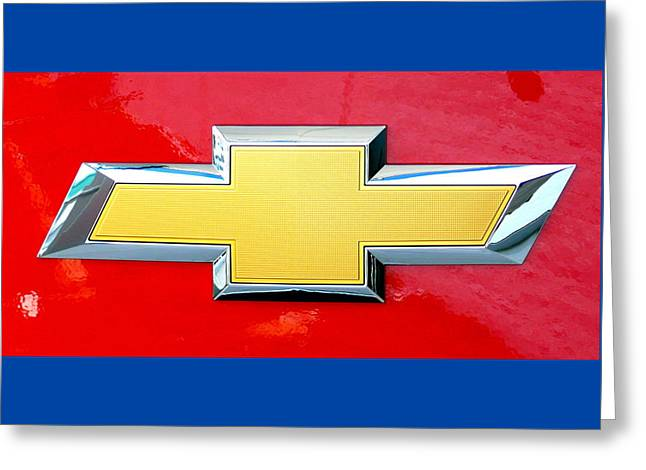 Red Chevy Bowtie Greeting Card